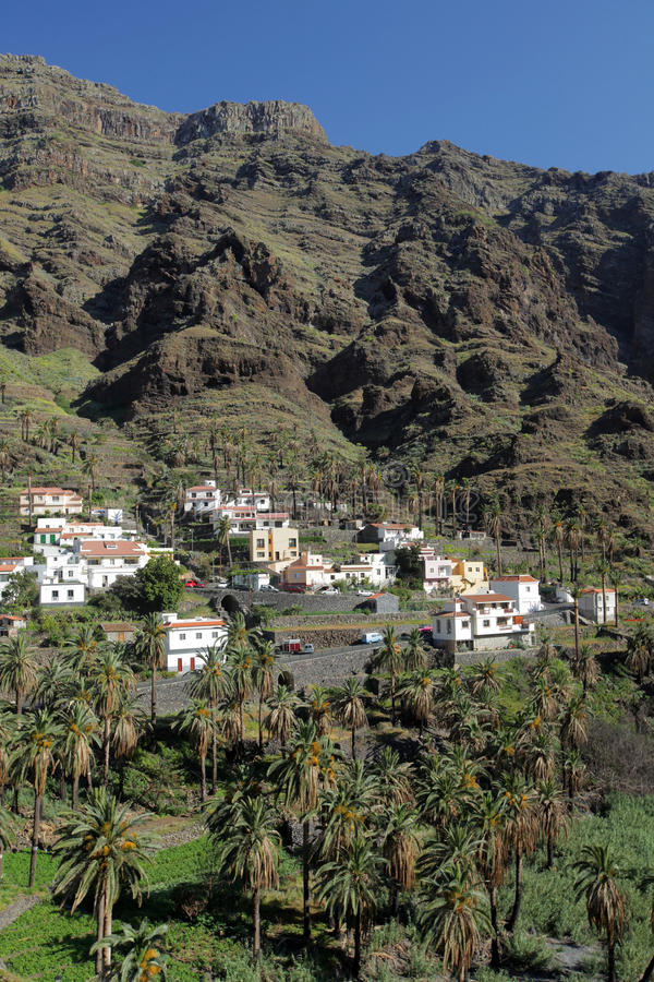 Stunning Valle Gran Rey. Stunning and beautiful Valle Gran Rey on the island of La Gomera, one of the archipelago of Canary Islands, Spain royalty free stock images