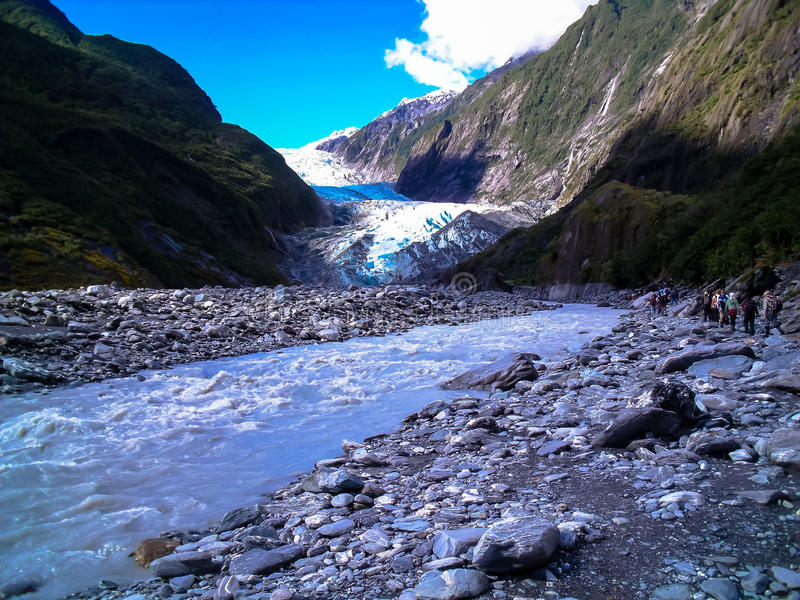 Stunning view of Franz Josef Glacier, South Island, New Zealand royalty free stock photography
