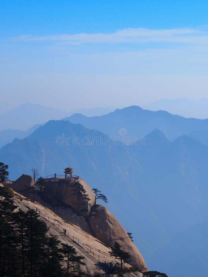 A Stunning View fromthe Peak of Huashan Mountain. Xian, China royalty free stock photos