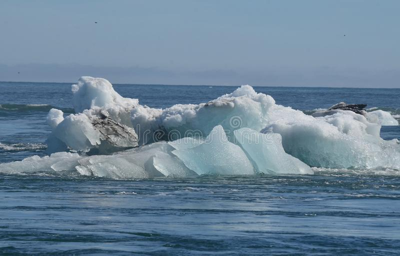 Compelling view of an Icelandic iceberg in a lagoon royalty free stock photo