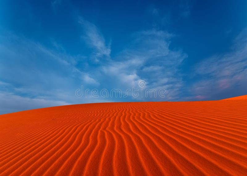 Stunning view of rippled sand dunes royalty free stock images