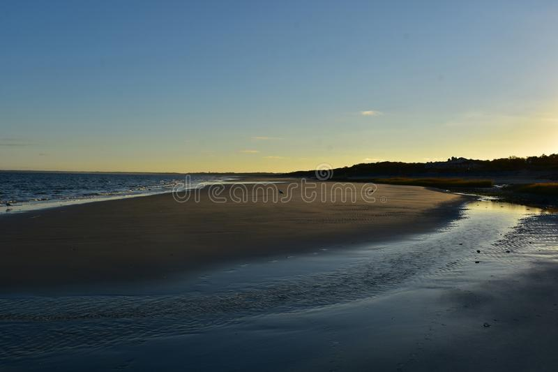Stunning view of a sunset beach landscape royalty free stock image