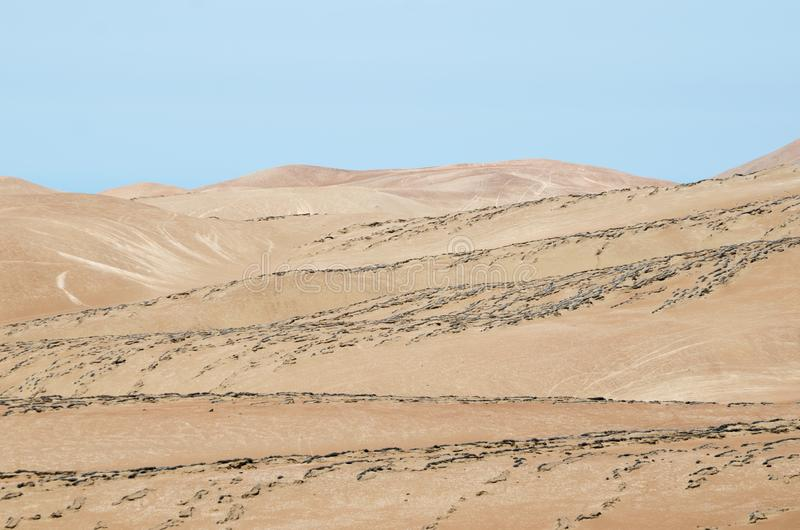 Stunning view to desert mountains stock image