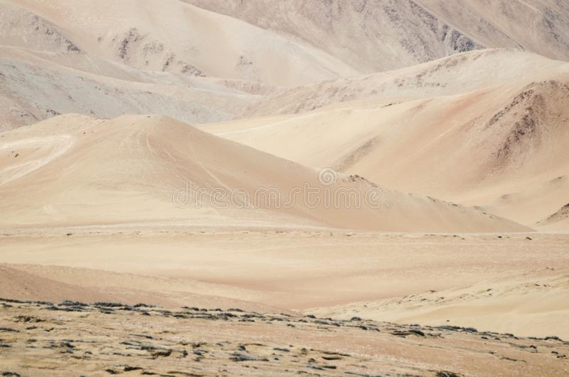 Stunning view to the dunes of the desert royalty free stock image