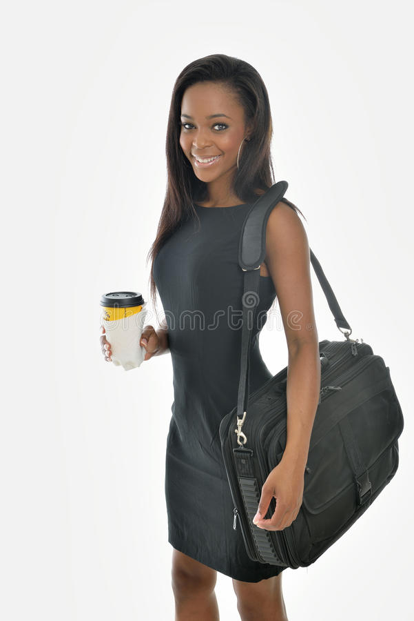 Stunning young African American business woman royalty free stock photo