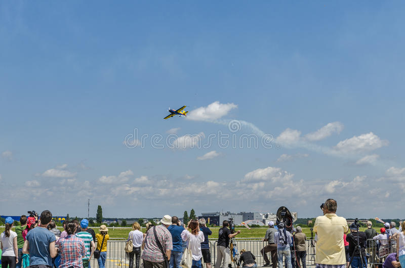 Stunt plane at air show royalty free stock images