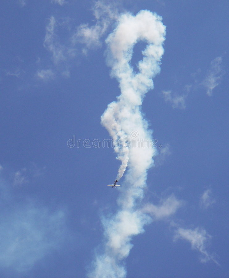 Stunt Plane Manuever stock images