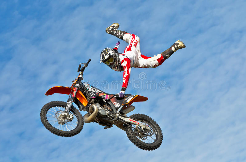 Download Stunt rider editorial stock photo. Image of engine, jump - 27700973