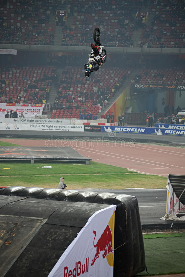 Stunt rider performance royalty free stock images