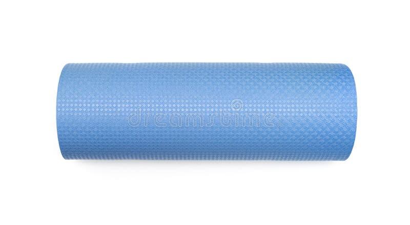 Stuoia blu di yoga per l'esercizio fotografia stock libera da diritti