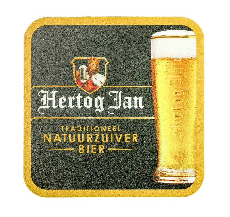 Stuoia della birra di Hertog gennaio fotografie stock