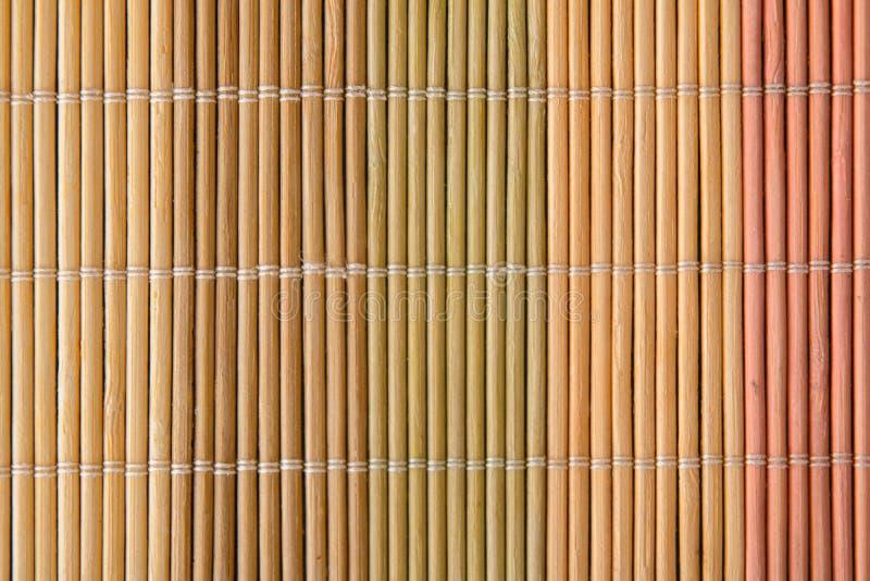 Stuoia di legno di colore fotografia stock