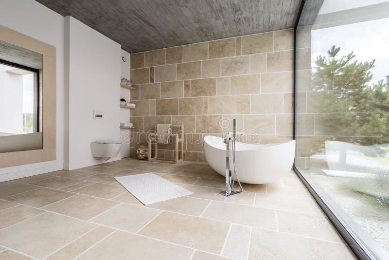 Stupéfiant, salle de bains spacieuse images libres de droits