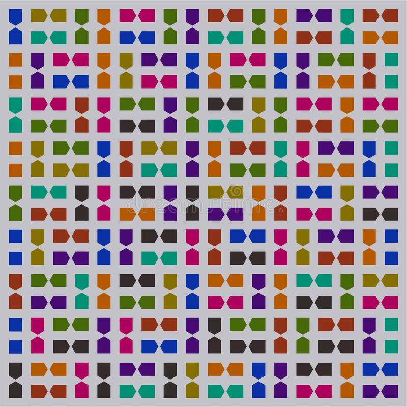 Stupéfier de Grey Colorful Pattern Wallpaper illustration stock