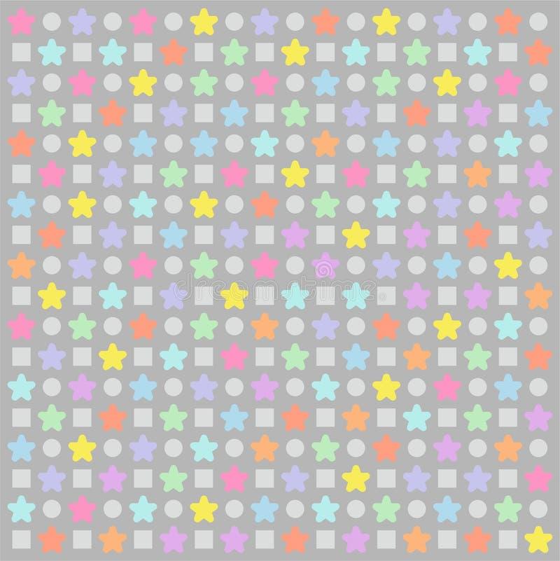 Stupéfier de Grey Colorful Star Pattern Wallpaper illustration de vecteur
