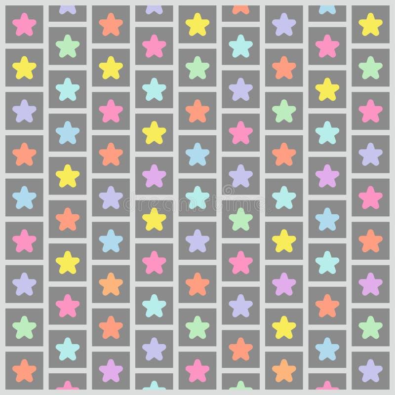 Stupéfier de Grey Colorful Star Pattern Wallpaper illustration libre de droits