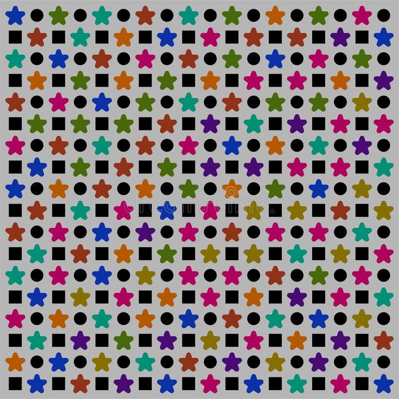 Stupéfier du papier peint coloré de profil sous convention astérisque illustration de vecteur