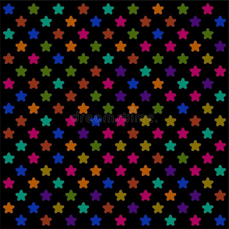 Stupéfier du papier peint coloré foncé de profil sous convention astérisque illustration stock