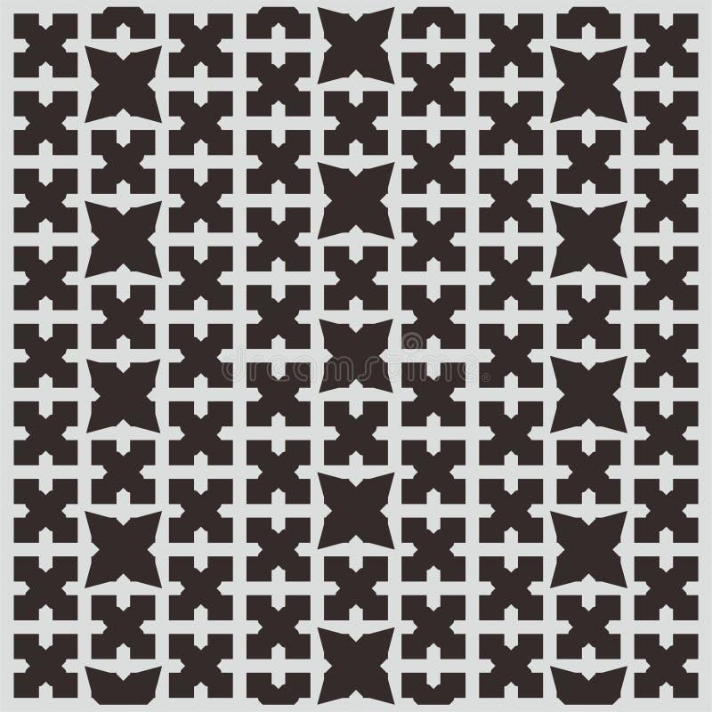 Stupéfier du papier peint noir de modèle avec Grey Lines illustration de vecteur