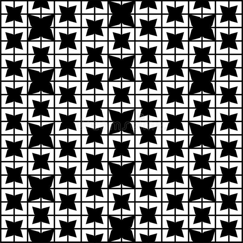 Stupéfier du papier peint noir et blanc de modèle illustration de vecteur