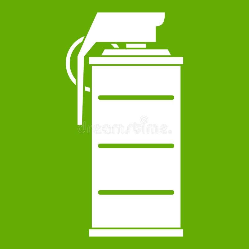Stupéfiez le vert d'icône de grenade illustration de vecteur