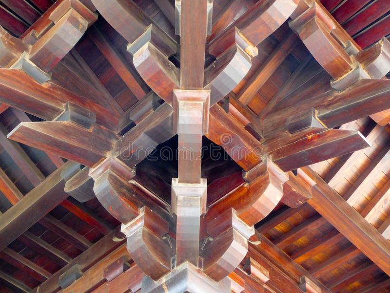 Stupa内部屋顶结构 图库摄影