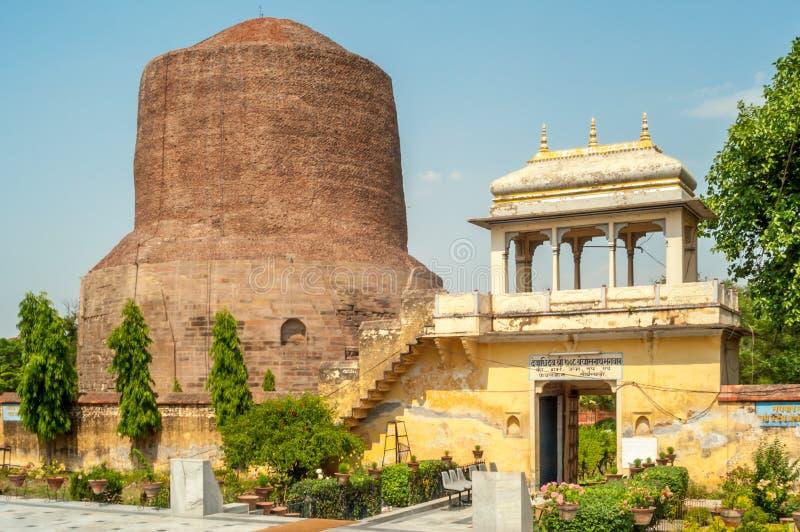 Stupa在鹿野苑 库存图片