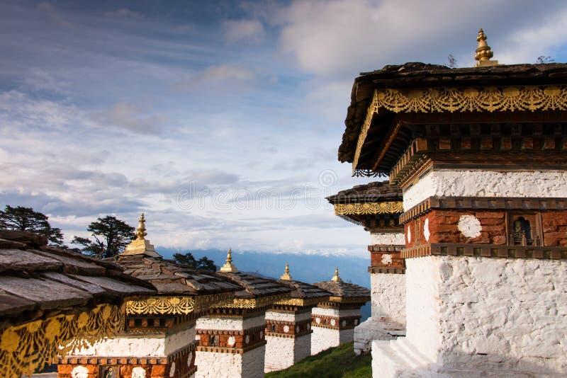 108 Stupa在Dochula通行证 库存图片