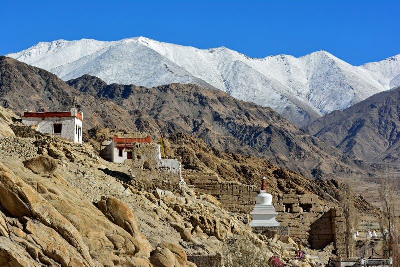 Stupa在Shey宫殿, Leh,拉达克 库存图片