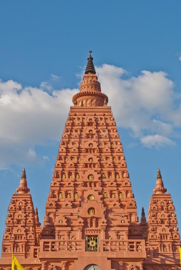stupa Таиланд bodhgaya стоковое изображение