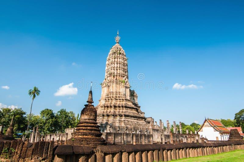 Stupa antigo, província de Sukhothai, Tailândia do norte fotografia de stock