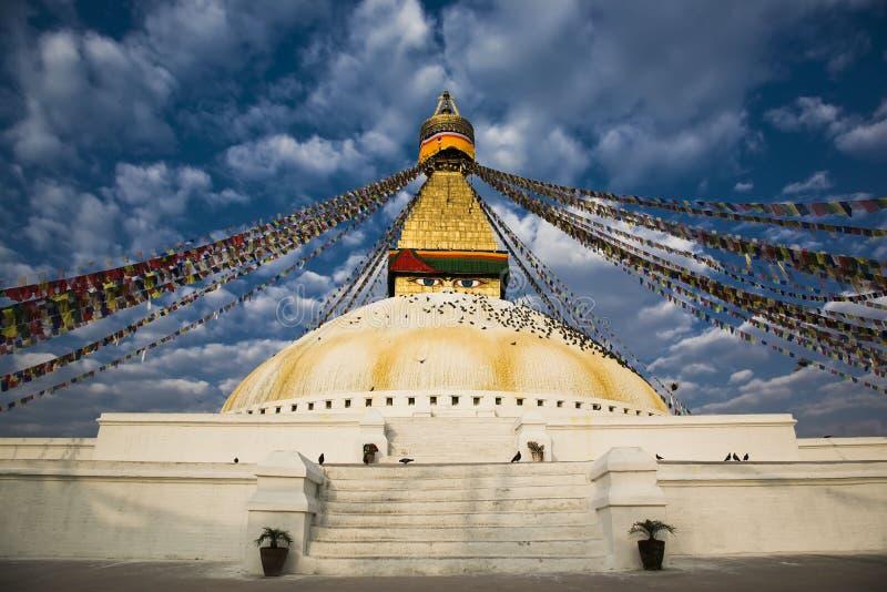 stupa bodhnath стоковое фото
