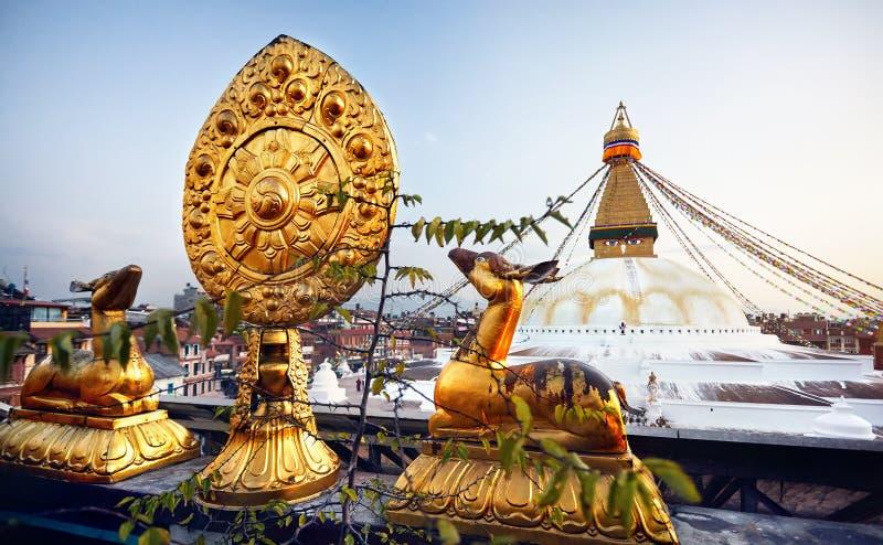 Download Stupa Bodnath в Катманду стоковое изображение. изображение насчитывающей святейше - 104036963