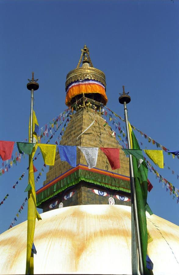 Stupa, Bodnath, Népal image stock
