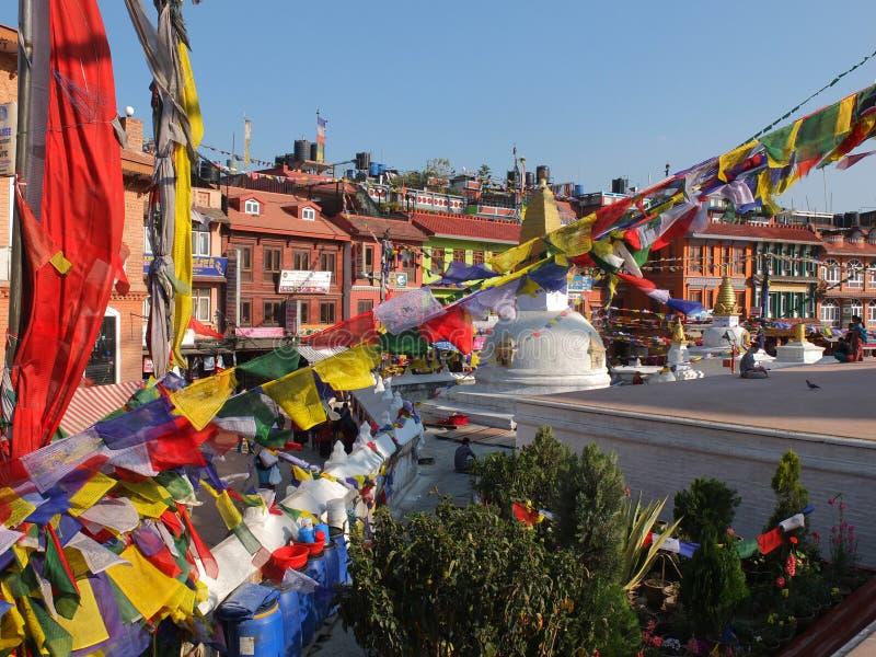 Stupa Bodnath, Nepal fotografia royalty free