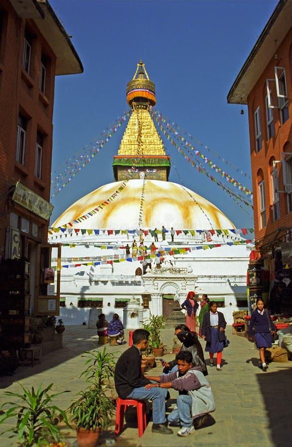 Stupa, Bodnath, Nepal fotografía de archivo libre de regalías