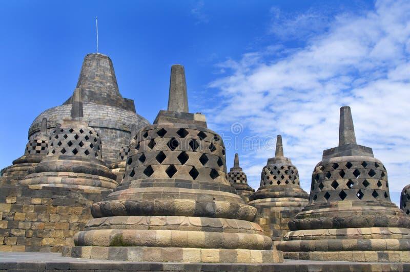 Stupa in Borobudur stock foto's