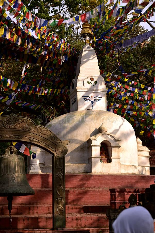Stupa Boudhanath royalty-vrije stock foto
