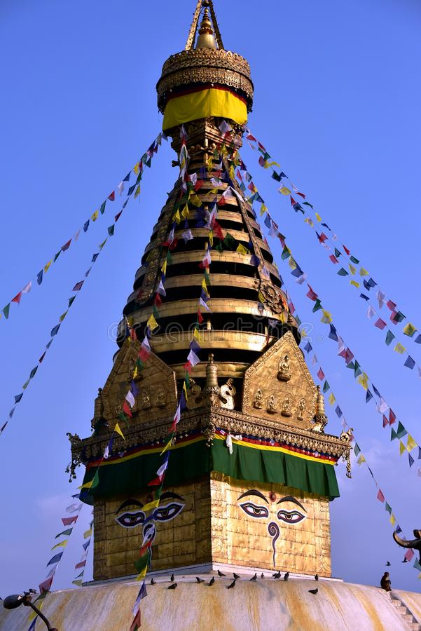 Stupa Boudhanath royalty-vrije stock foto's