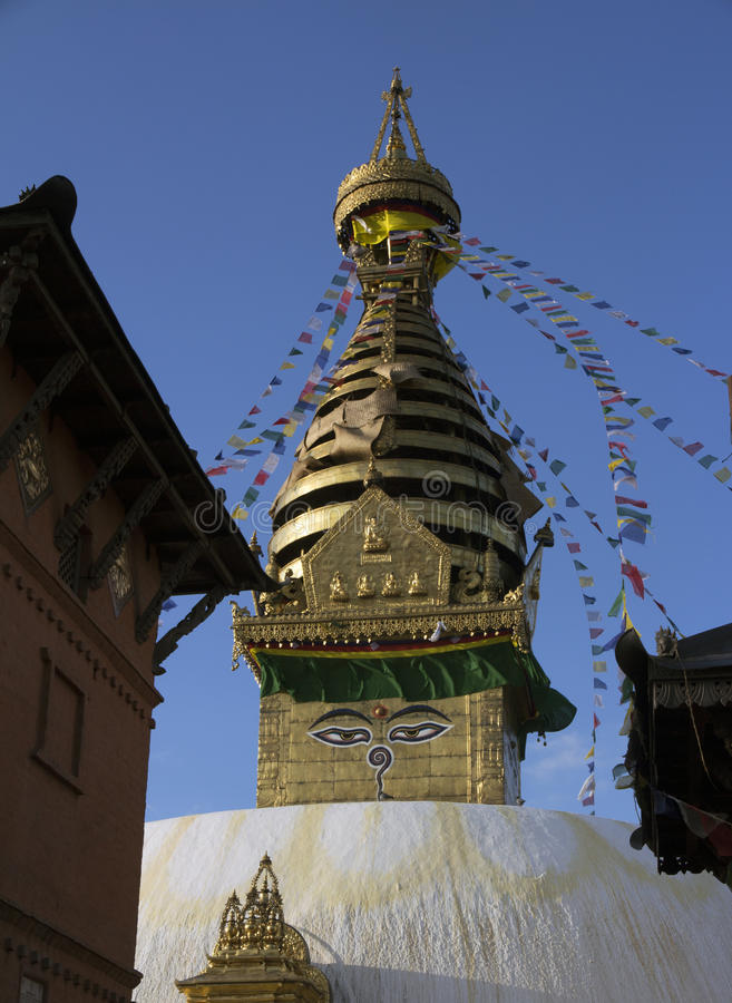 Stupa of Buddhist Temple in Nepal royalty free stock photos