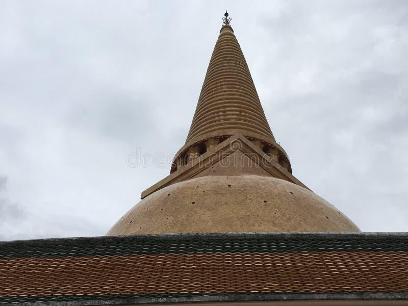 Stupa buddista, Pra PathomChedi, Nakorn Pathom, Tailandia fotografie stock