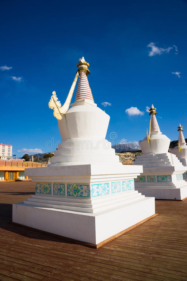 Stupa budista fotos de stock royalty free