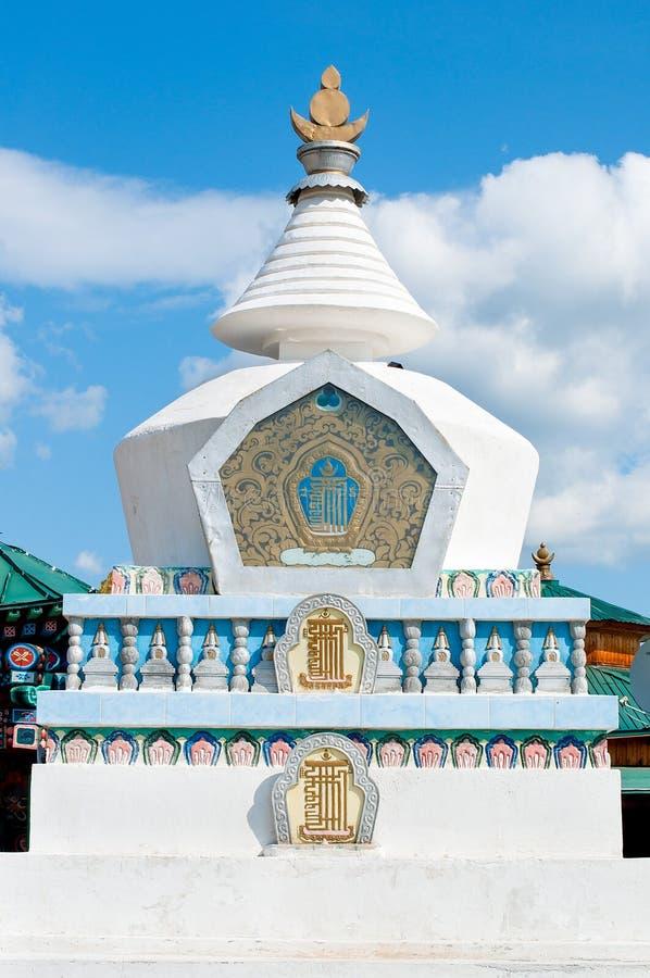 Stupa budista do pagode, Ivolginsky datsan foto de stock