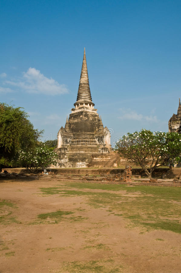 Stupa (chedi) d'un Wat en Thaïlande photo libre de droits