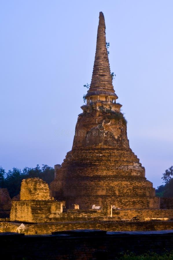 Stupa (chedi) of a Wat royalty free stock photos