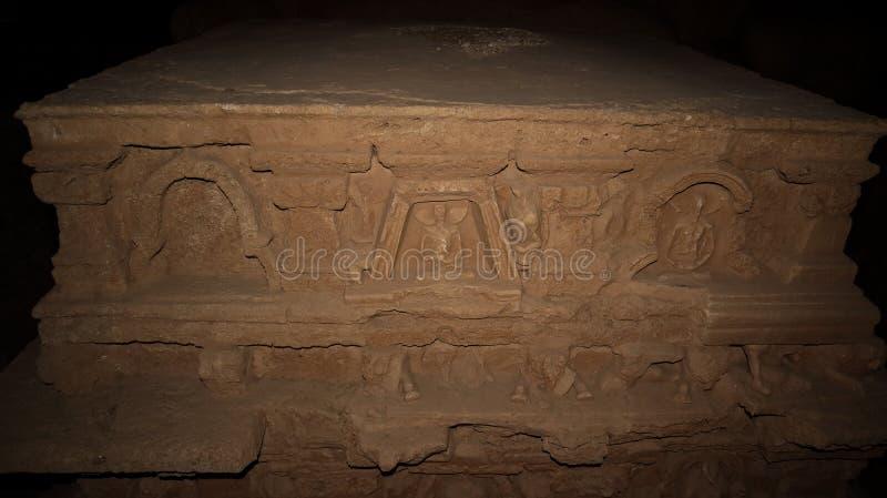 Stupa chez Jaulian a ruiné le monastère bouddhiste, Haripur, Pakistan Un site de patrimoine mondial de l'UNESCO photographie stock libre de droits
