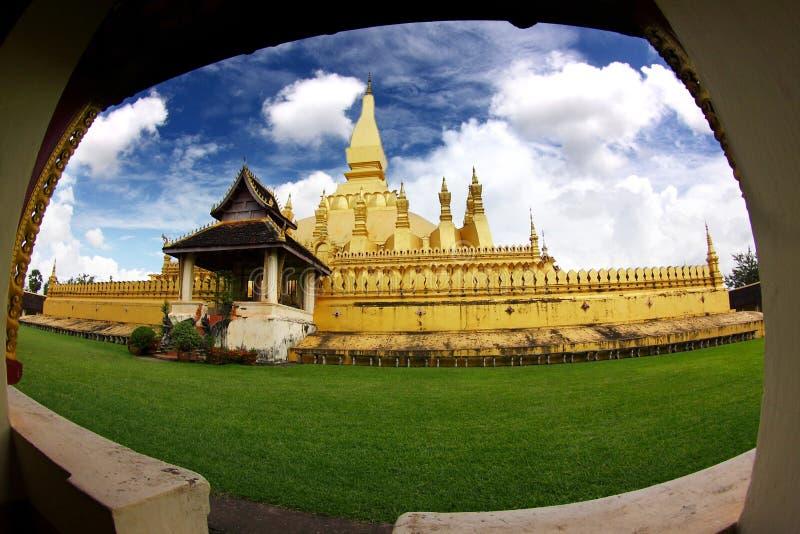 Stupa d'or dans le vientiane-lao photos stock