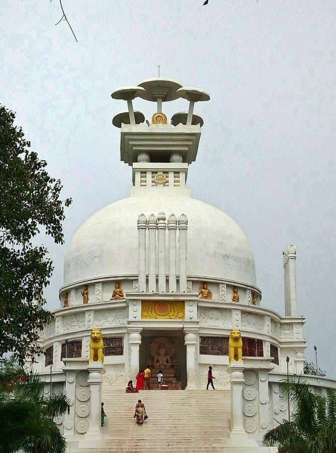 Stupa da paz da Buda foto de stock