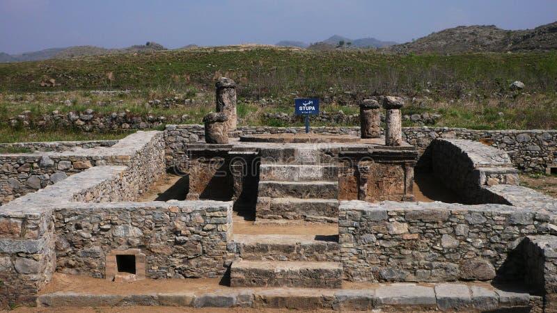 Stupa dans des ruines de taxila image libre de droits