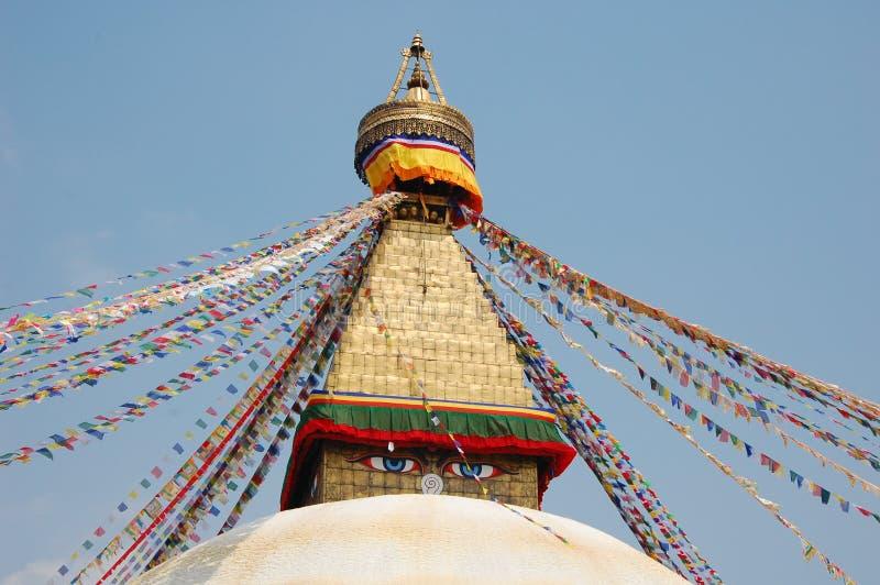 Stupa de Bodnath à Katmandou, Népal image libre de droits